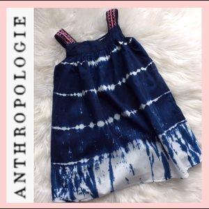 Anthro AphOrism Girl's Tie Dye Dress